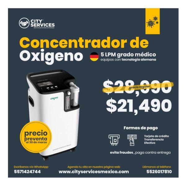 Concentrador oxigeno Grado Medico