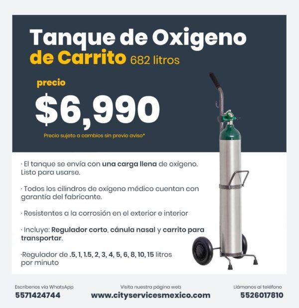 Tanque Oxigeno 682 litros City Services Mexico