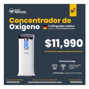 concentrador de Oxigeno 3LPM City Services Mexico Promocion