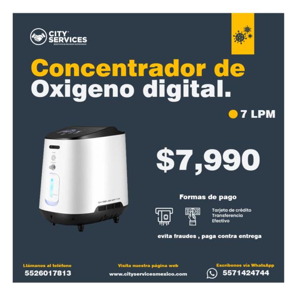 concentrador oxigeno digital 7 LPM